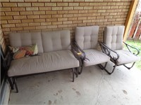 Patio Bench, 2) Chairs