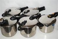 LOT OF 5 T-FAL PRESSURE COOKERS (DAMAGED)
