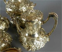 Impressive London Sterling Silver Tea & Coffee Set