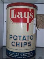 Metal Potato Chip Container
