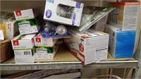 Light Bulbs & Rolling Shelf