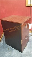 Lot of 2 Wood Filing Cabinets