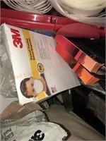 Plastic Tool Box & Painting Supplies