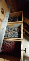 Wooden Utility Cabinet on Wheels