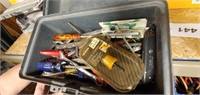 Plastic Tool Box & Assorted Tools