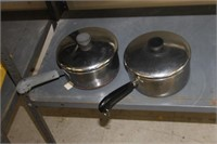 2 Cooking Pots with Lids