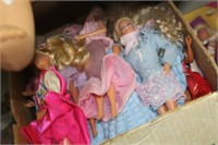 Box of Dolls,Barbie,etc