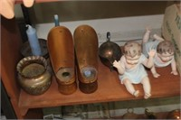 Lot of Brass/Copper Decor & Doll