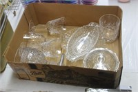 Box of Various Glassware