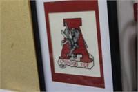 Framed Alabama Needle Point,12x15