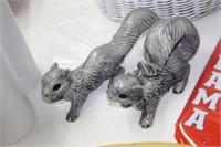2 Squirrel Figures