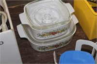 2 Corningware Dishes with Lids