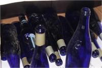 Lot of Decorative Blue Bottles