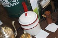 Vintage Enamel Double Broiler