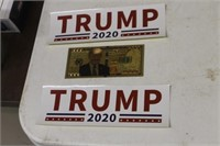 Trump Bumper Stickers & $1000 Novelty Bill