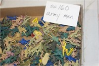 Box of Toy Army Men