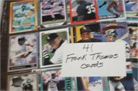 Lot of 41 Frank Thomas Baseball Cards