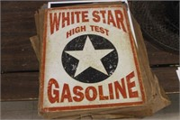 White Star Metal Sign