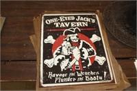 One Eyed Jacks Metal Sign