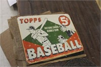 Topps Baseball Metal Sign