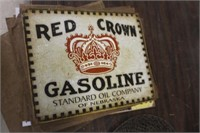 Red Crown Metal Sign