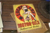 Lucky Lady Metal Sign