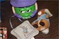 Mickey Mouse Doll,M&M Bucket,etc