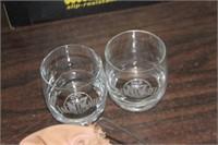 2 Jack Daniels Glasses