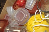 Lot of Containers, Measuring Cup, etc.