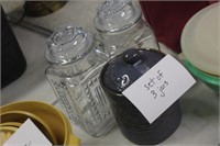 Two Glass Jars and Canister