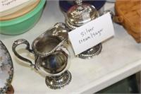 Silverplate Cream and Sugar