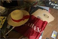 Lot of Matting, Hat, and Alabama Flag
