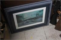 "Framed Snow Print, 19X23"""