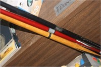 Three Pool Sticks