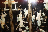 Vintage Japanese Mother of Pearl Wall Art