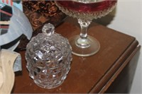 Glass Candy Dish Jar with Lid