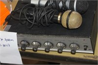 Realistic Amplifier & 2 Microphones