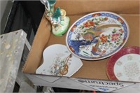 Box of Collector Plates & Pitcher