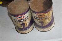 2 Vintage Texaco Oil Cans