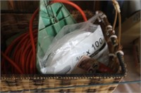 Basket of Extension Cord & Lock