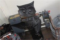 "Decorative Metal Owl,18"" Tall"