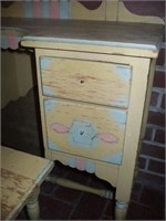 "CHILD'S VANITY SET, 49"" TALL, 30'' WIDE, 14"" DEEP,"