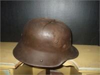 NAZI WAR HELMET W/ DAMAGE, NO LINER