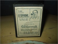 """THE OTOPHONE "" HEARING DEVCE, W/ 2 BOXES"