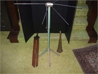 """WOODEN DRYING RACK 36"""" , WALL MOUNTED RACK 8 RODS,"""