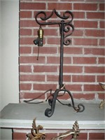 WROUGHT IRON DESK LAMP, NEEDS TO BE REWIRED, 27""