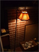 "CAST METAL FLOOR LAMP, WORKING , 59"" TALL"