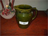 4 PIECES OF POTTERY AND PITCHERS, PLUS