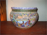 ORIENTAL JARDINIERE, GOOD COLOR AND TEXTURE,