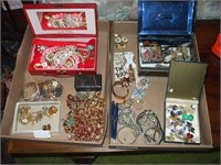 2 BOXES OF COSTUME JEWELRY